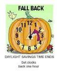 Daylight savings time fall