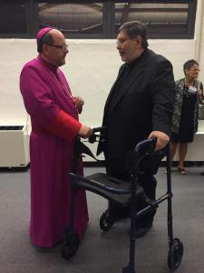 Father Len with Bishop Malesic