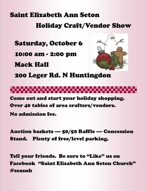 Craft Show Event flier 2018