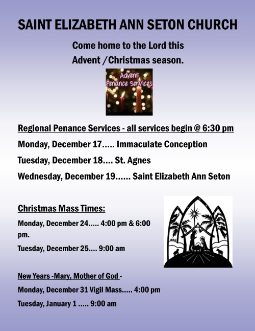 Advent penance services & Christmas mass times 2018-001-001