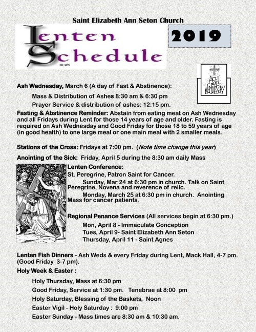 2019 Lenten Easter Schedule-001-001
