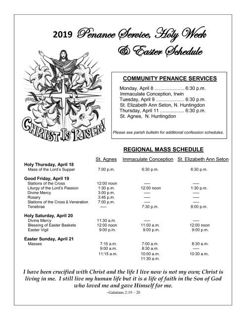 2019 Regional Easter Schedule-001-001