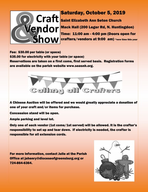 Vendors needed for craft show-001-001