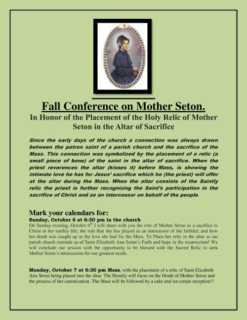 Fall Conference on Mother Seton-001-001
