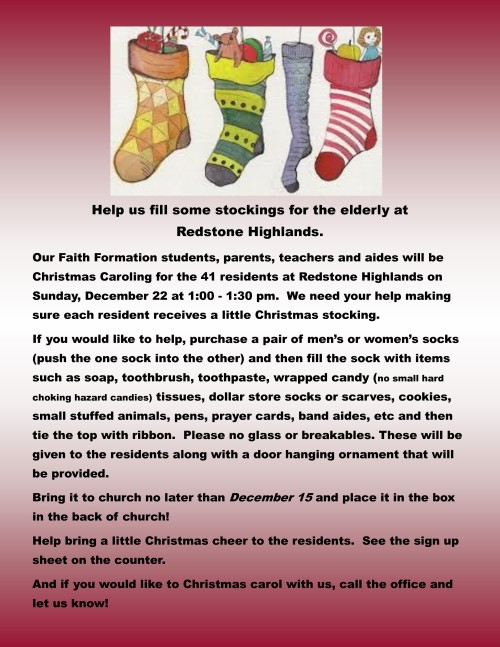 Christmas stocking for residents 2019-001-001