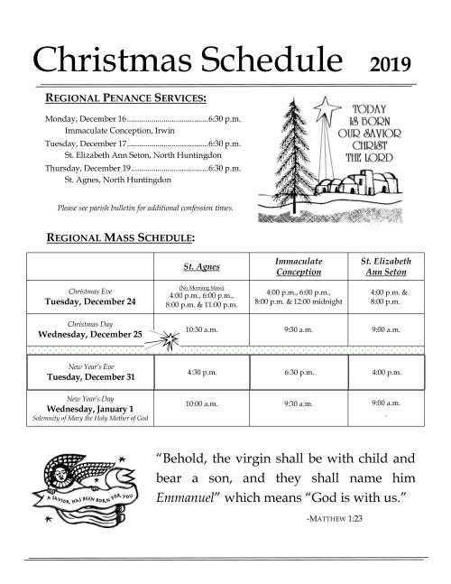 2019 Regional Christmas Mass Penance Schedule-001-001