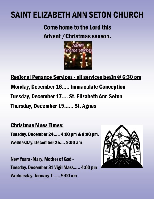 Advent penance services & Christmas mass times 2019-001-001