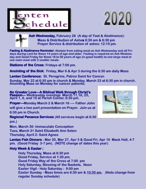 2020 Lenten.Easter schedule-001-001